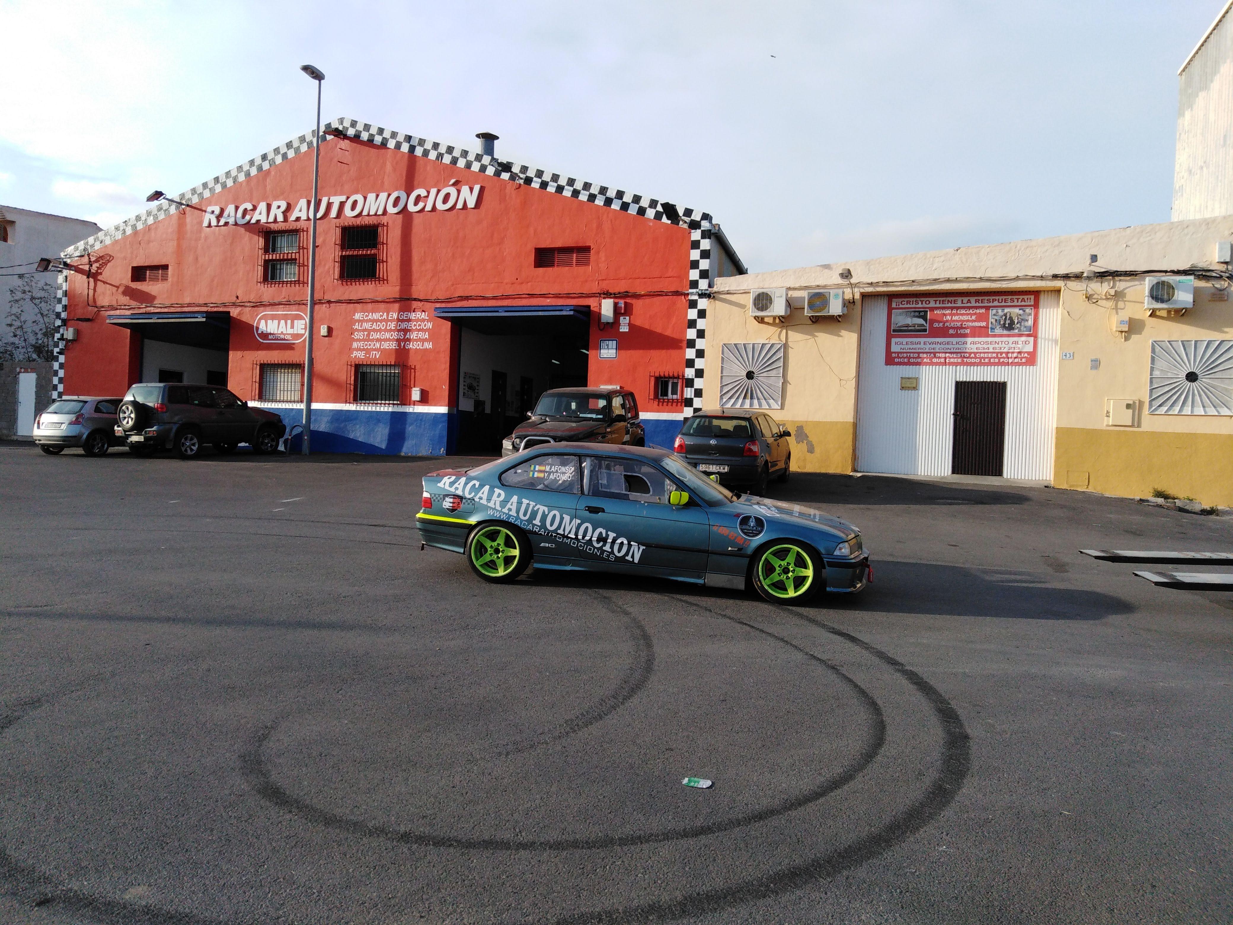   Preparación de BMW 3.28 i, para la subida a Mazarrón, 2019, con Mahy Afonso y Racar Automoción  